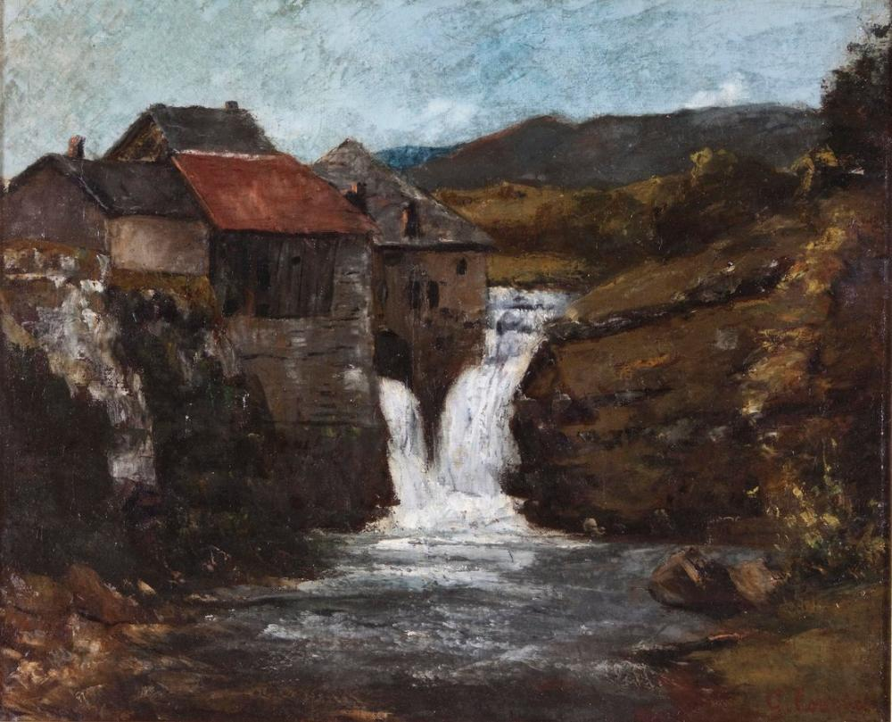 Gustave Courbet The Mill at Orbe, Canvas, Gustave Courbet, kanvas tablo, canvas print sales