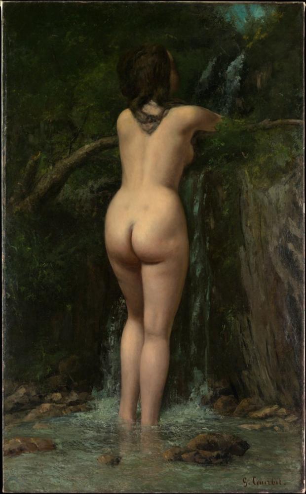 Gustave Courbet The Source, Canvas, Gustave Courbet, kanvas tablo, canvas print sales