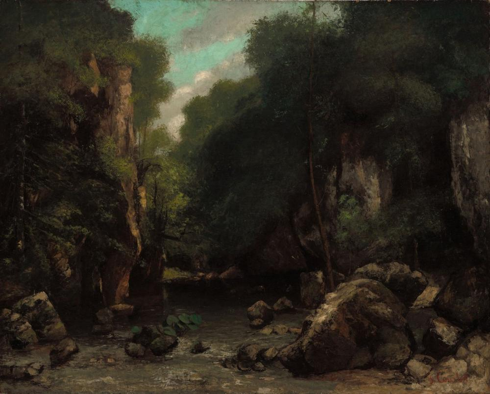 Gustave Courbet The Valley of Les Puits Noir, Canvas, Gustave Courbet, kanvas tablo, canvas print sales