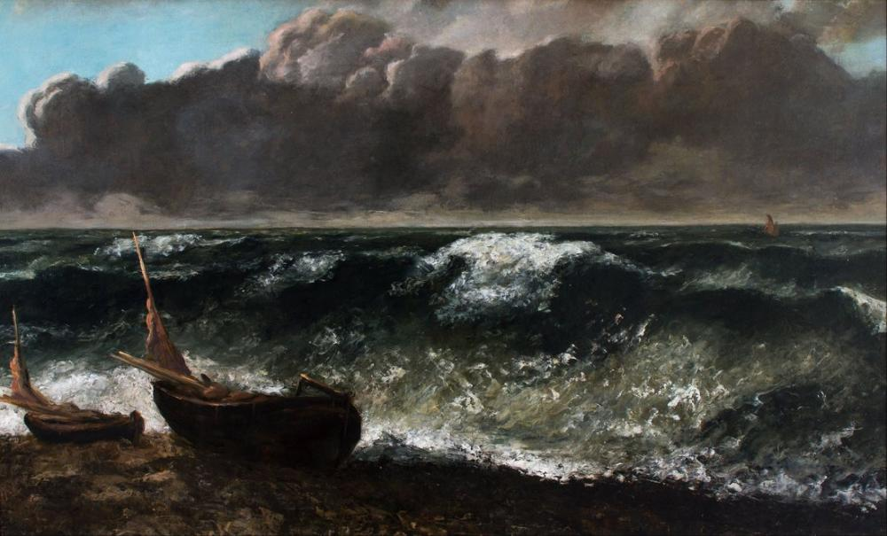 Gustave Courbet The Wave II, Canvas, Gustave Courbet, kanvas tablo, canvas print sales