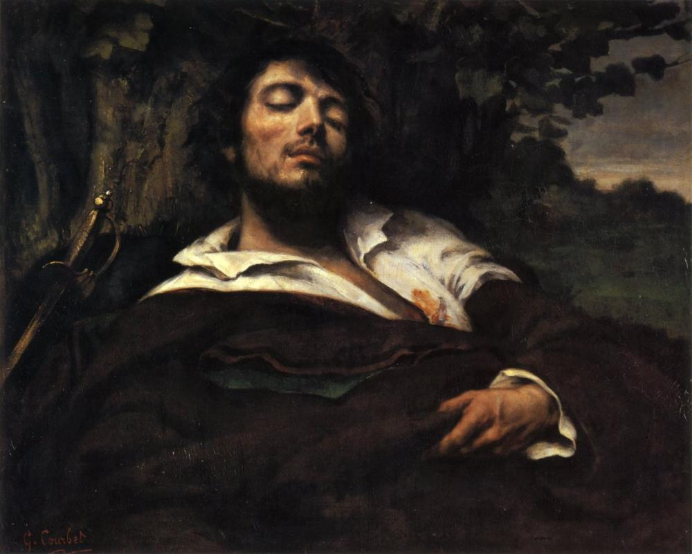 Gustave Courbet The Wounded Man, Canvas, Gustave Courbet, kanvas tablo, canvas print sales
