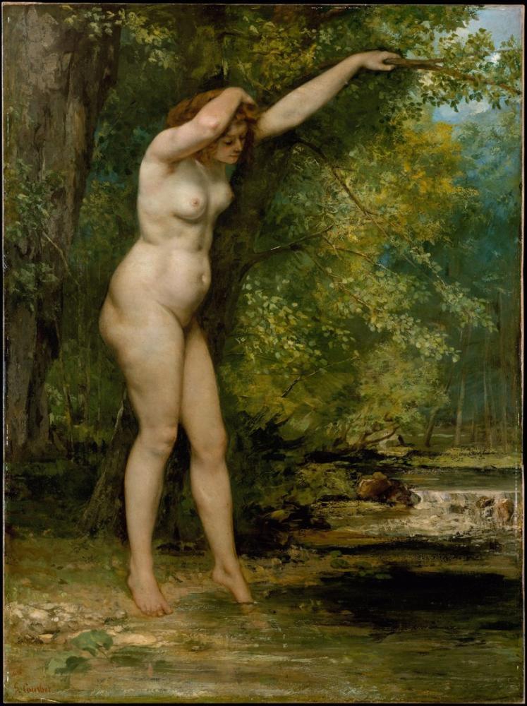 Gustave Courbet Genç Yüzücü, Kanvas Tablo, Gustave Courbet, kanvas tablo, canvas print sales