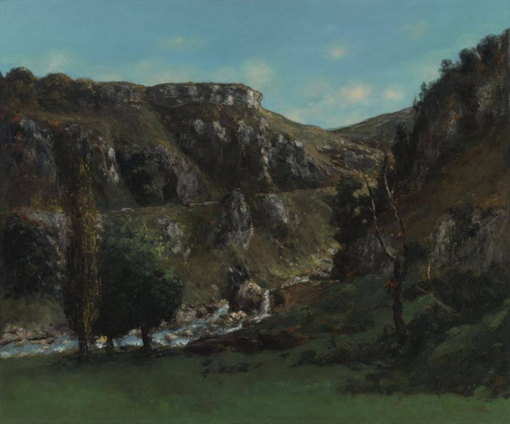 Gustave Courbet Laloue Valley Near Mouthiers Haute Pierre, Canvas, Gustave Courbet, kanvas tablo, canvas print sales