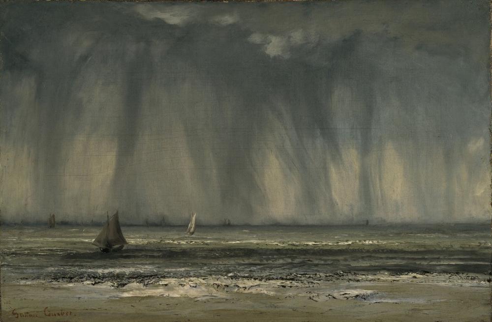 Gustave Courbet Waterspout, Canvas, Gustave Courbet, kanvas tablo, canvas print sales