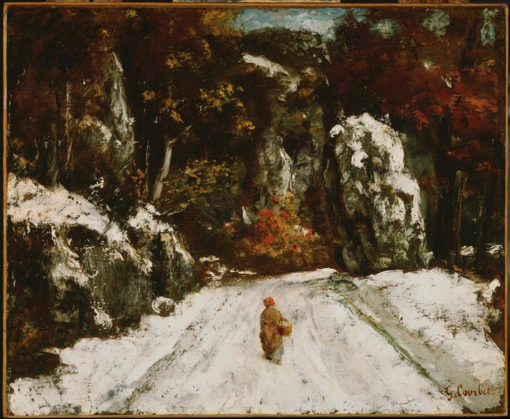 Gustave Courbet Kış Jura, Kanvas Tablo, Gustave Courbet, kanvas tablo, canvas print sales
