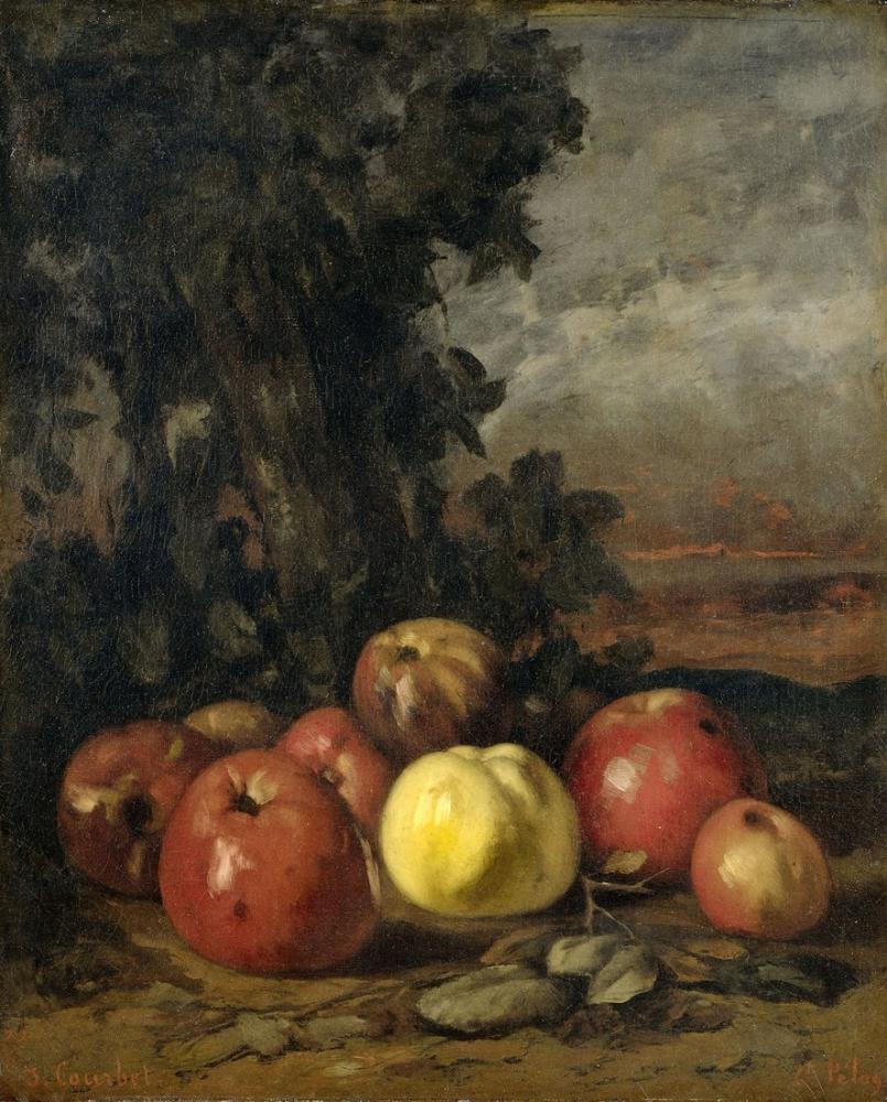 Gustave Courbet Apples, Canvas, Gustave Courbet, kanvas tablo, canvas print sales