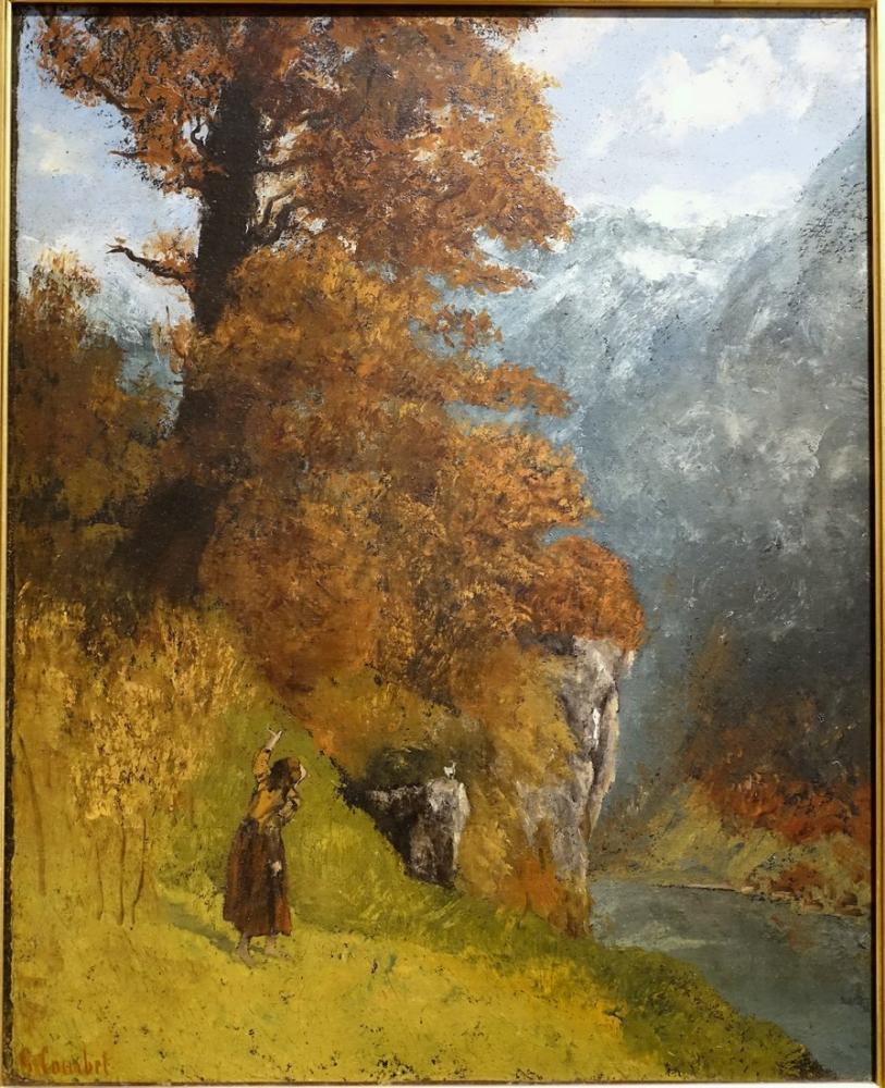 Gustave Courbet Sonbahar, Kanvas Tablo, Gustave Courbet, kanvas tablo, canvas print sales