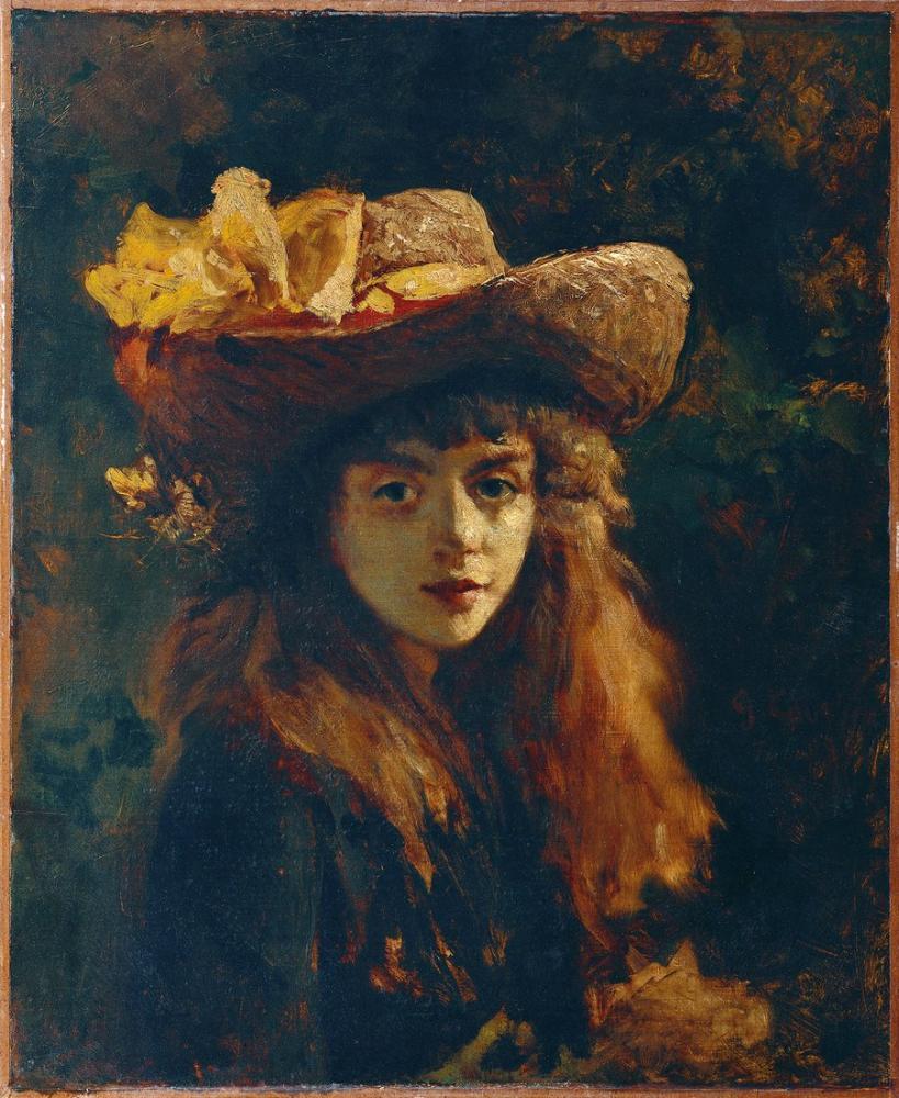 Gustave Courbet Bir Kız Portresi, Kanvas Tablo, Gustave Courbet, kanvas tablo, canvas print sales