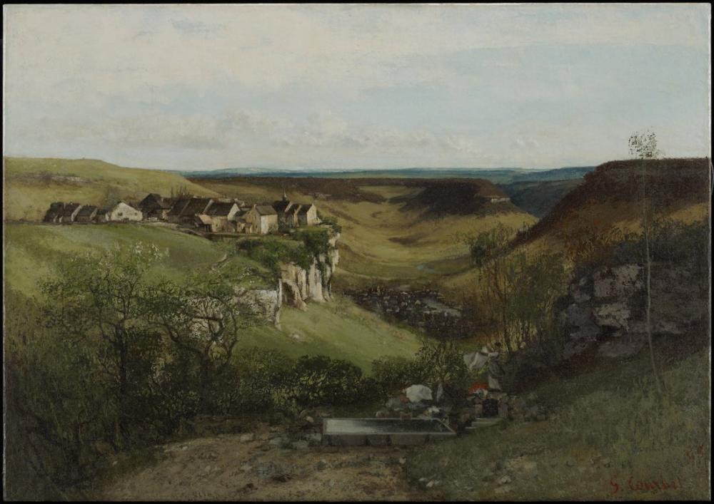 Gustave Courbet Chateau Ornans, Canvas, Gustave Courbet, kanvas tablo, canvas print sales