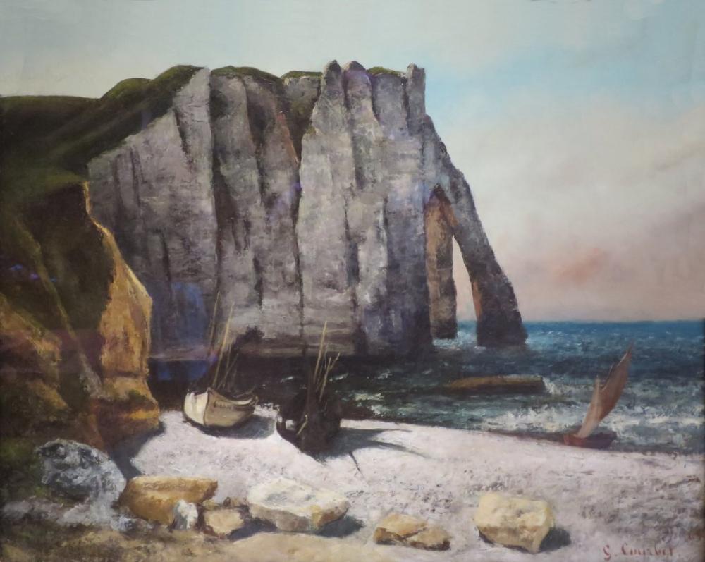 Gustave Courbet Etretat Uçurum, Kanvas Tablo, Gustave Courbet, kanvas tablo, canvas print sales