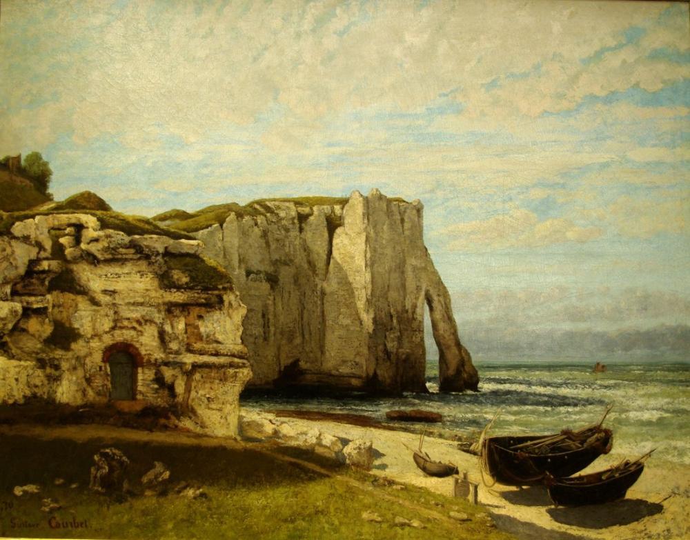 Gustave Courbet Etretat Uçurumlarda Fırtına Sonrası, Kanvas Tablo, Gustave Courbet, kanvas tablo, canvas print sales