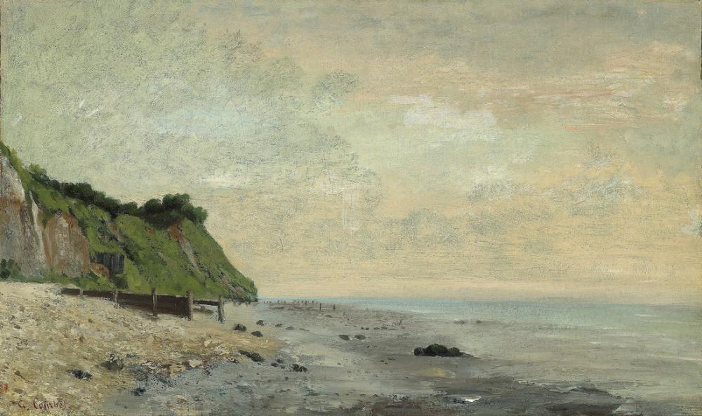 Gustave Courbet Deniz Kenarında Uçurum, Kanvas Tablo, Gustave Courbet, kanvas tablo, canvas print sales