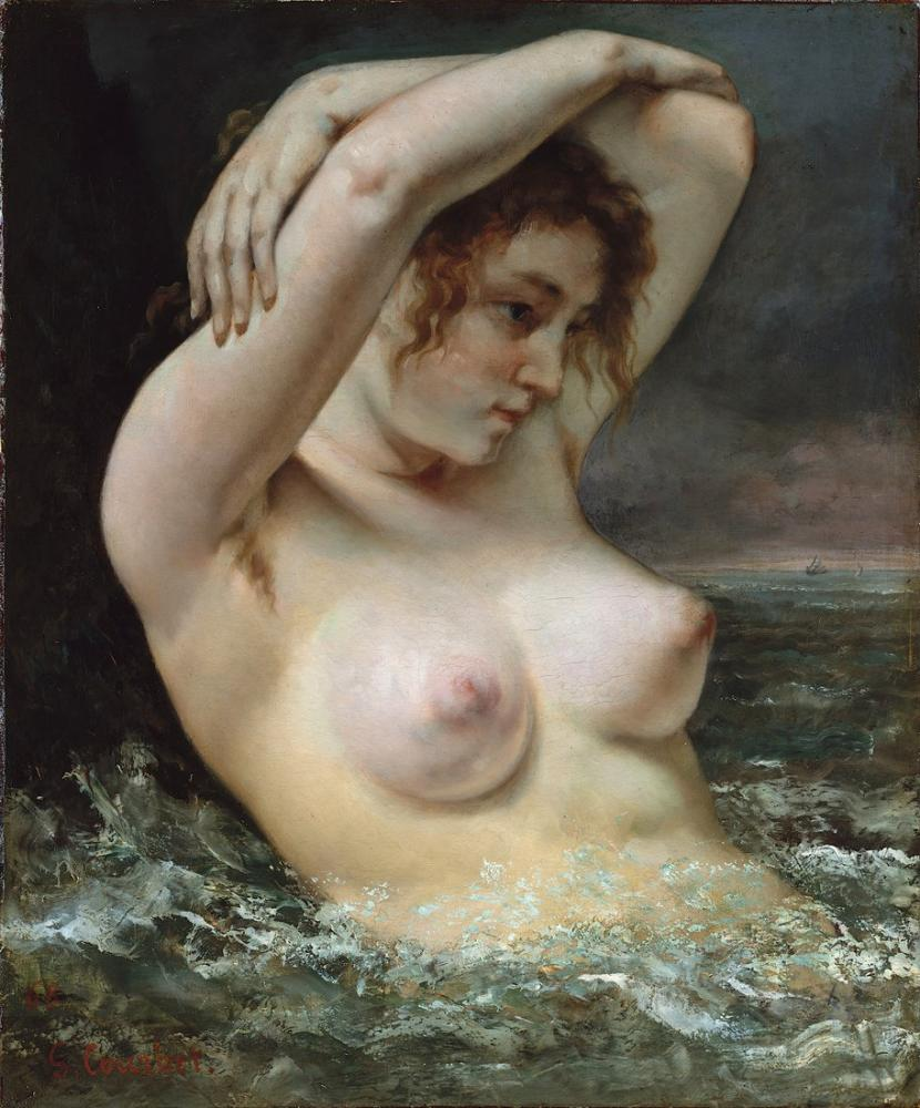 Gustave Courbet Woman on the Wave, Canvas, Gustave Courbet, kanvas tablo, canvas print sales