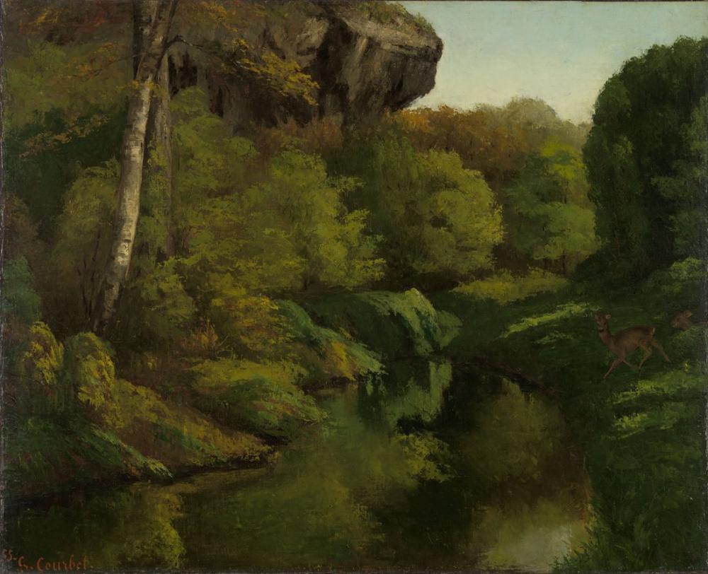 Gustave Courbet Fontainebleau Ormanı, Kanvas Tablo, Gustave Courbet, kanvas tablo, canvas print sales