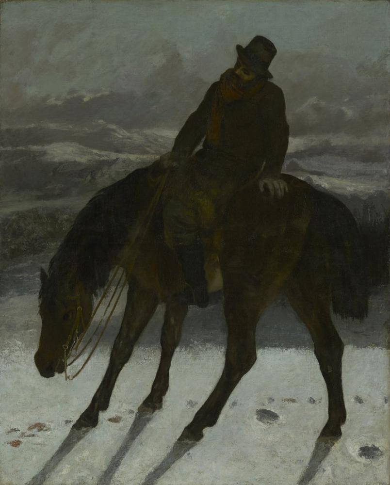 Gustave Courbet Hunter On Horseback, Canvas, Gustave Courbet, kanvas tablo, canvas print sales