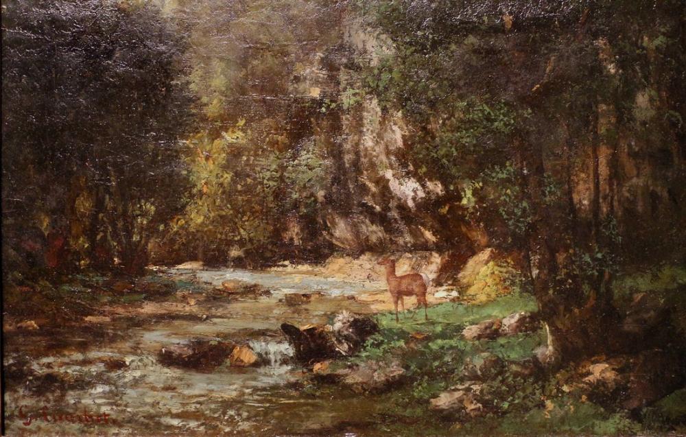 Gustave Courbet Puf Noir Daino Süpürgesi, Kanvas Tablo, Gustave Courbet, kanvas tablo, canvas print sales