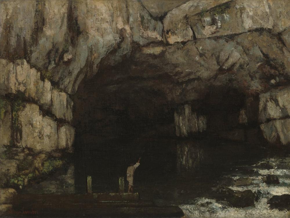 Gustave Courbet La Grotte De La Loue, Canvas, Gustave Courbet, kanvas tablo, canvas print sales