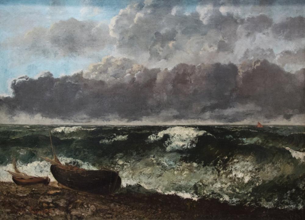 Gustave Courbet La Mer Orageuse, Canvas, Gustave Courbet, kanvas tablo, canvas print sales