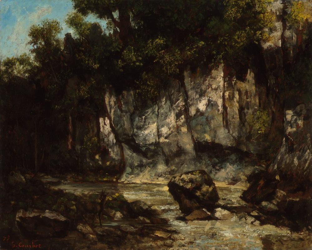 Gustave Courbet Landscape With Stag, Canvas, Gustave Courbet, kanvas tablo, canvas print sales