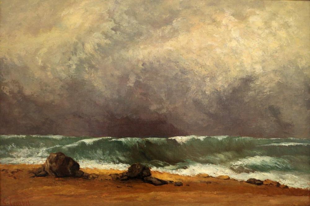 Gustave Courbet Dalga, Kanvas Tablo, Gustave Courbet, kanvas tablo, canvas print sales