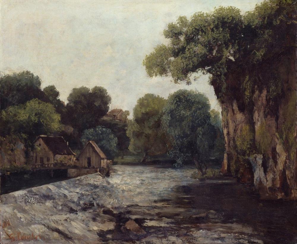 Gustave Courbet Lecluse De La Loue, Canvas, Gustave Courbet, kanvas tablo, canvas print sales