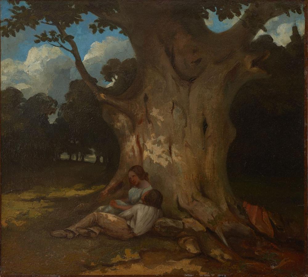 Gustave Courbet Büyük Meşe, Kanvas Tablo, Gustave Courbet, kanvas tablo, canvas print sales