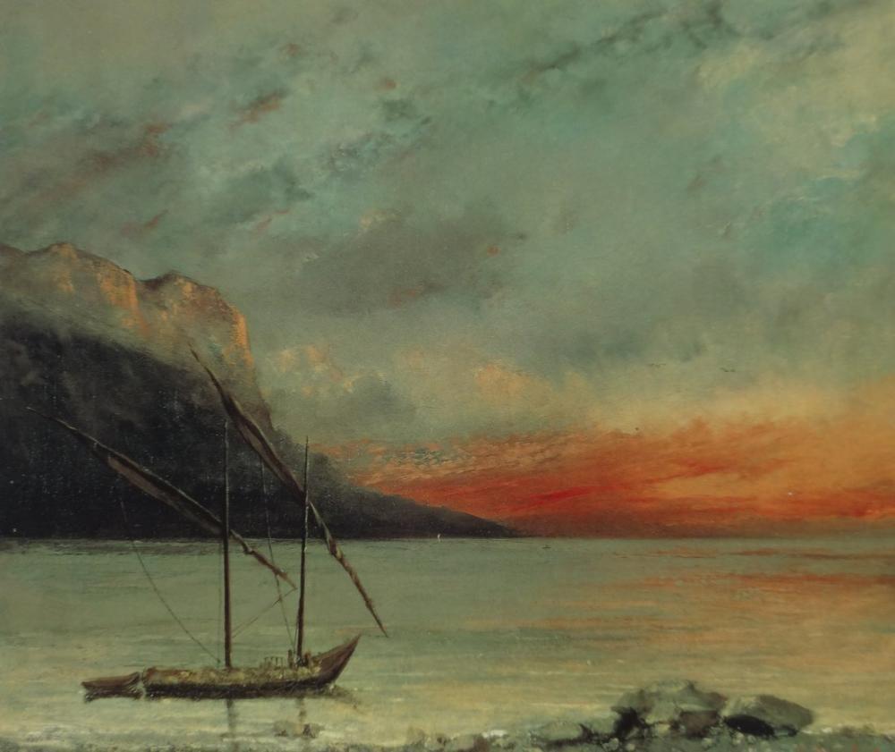 Gustave Courbet Leman, Kanvas Tablo, Gustave Courbet, kanvas tablo, canvas print sales