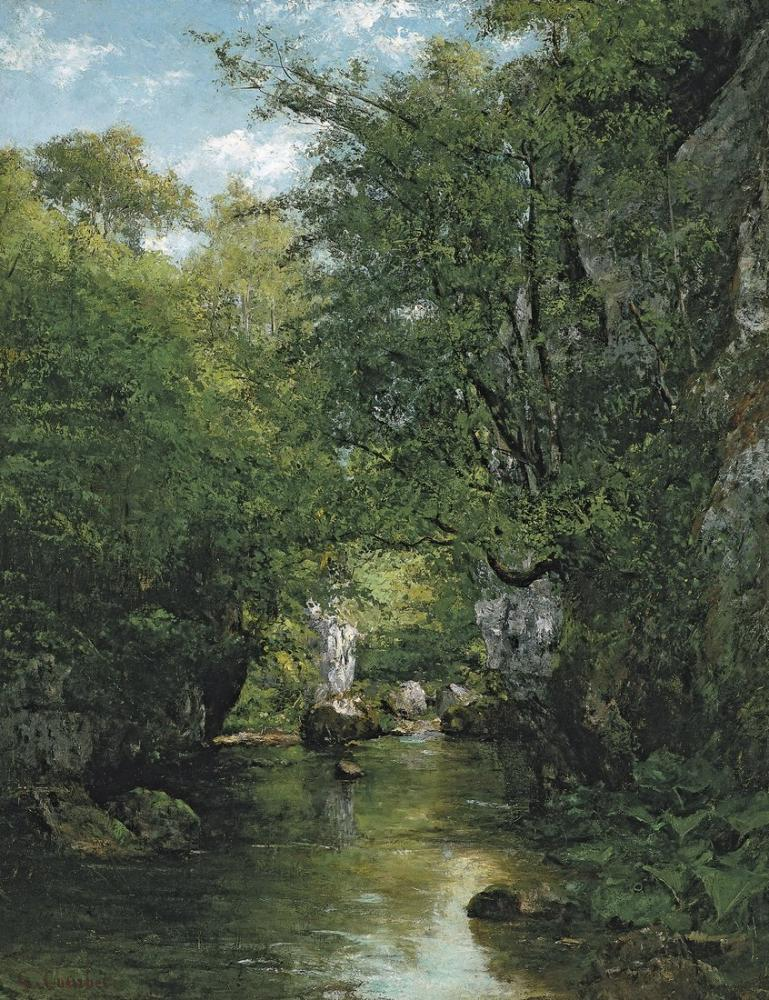 Gustave Courbet The Brook Of Bremen, Canvas, Gustave Courbet, kanvas tablo, canvas print sales