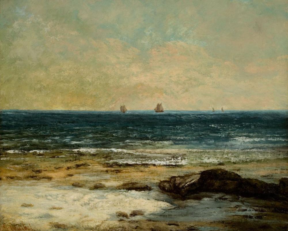 50x35, 70x50 100x70 Yatay Şablon, Kanvas Tablo, Gustave Courbet, kanvas tablo, canvas print sales