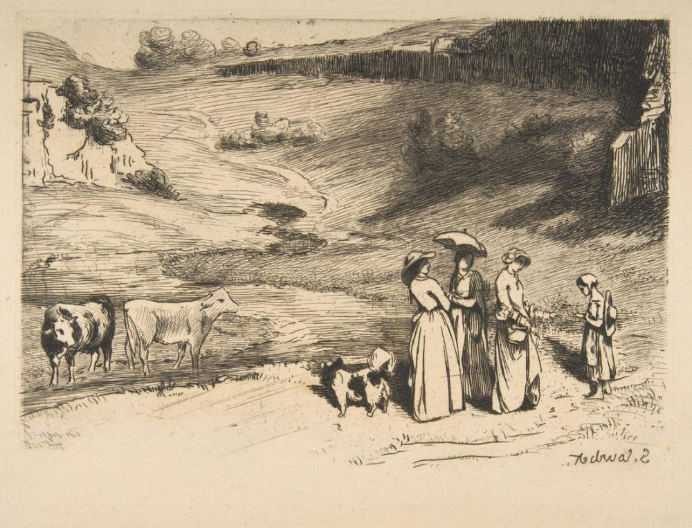 Gustave Courbet Les Demoiselles De Village After, Canvas, Gustave Courbet, kanvas tablo, canvas print sales