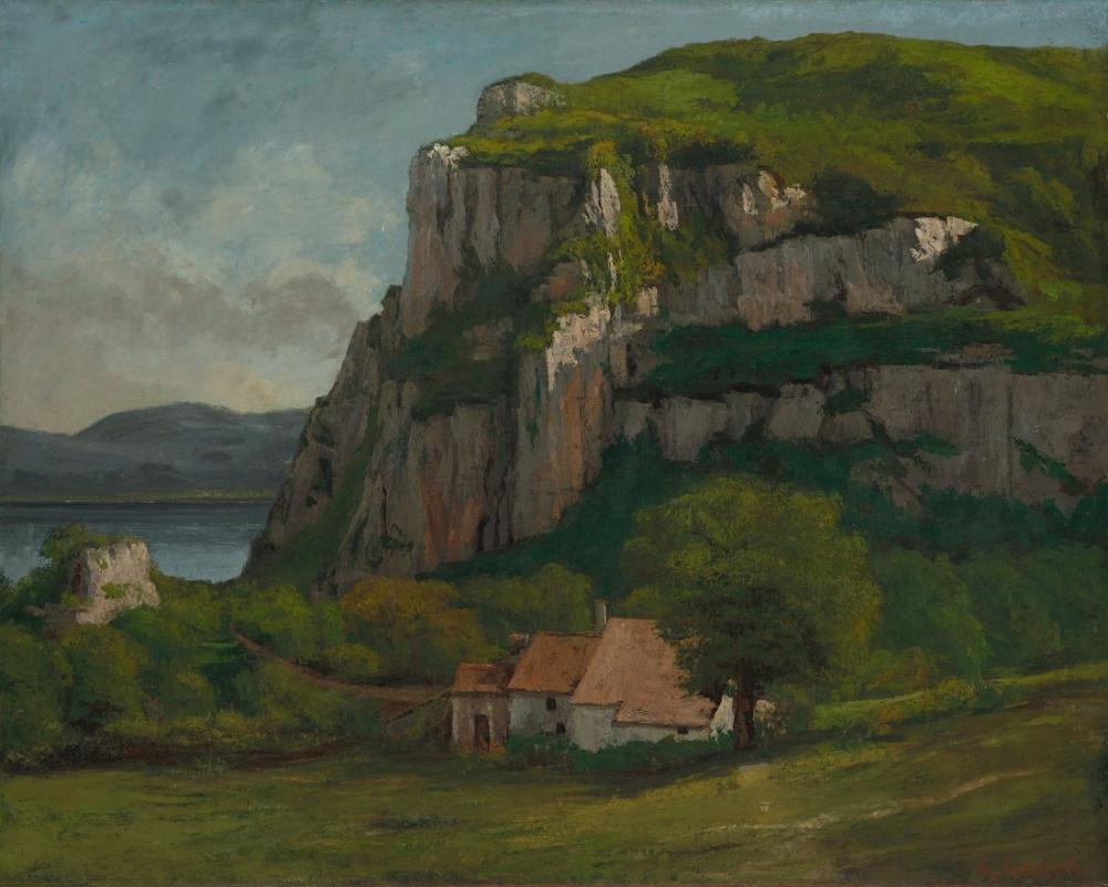Gustave Courbet Hautepierre Kayaları, Kanvas Tablo, Gustave Courbet, kanvas tablo, canvas print sales