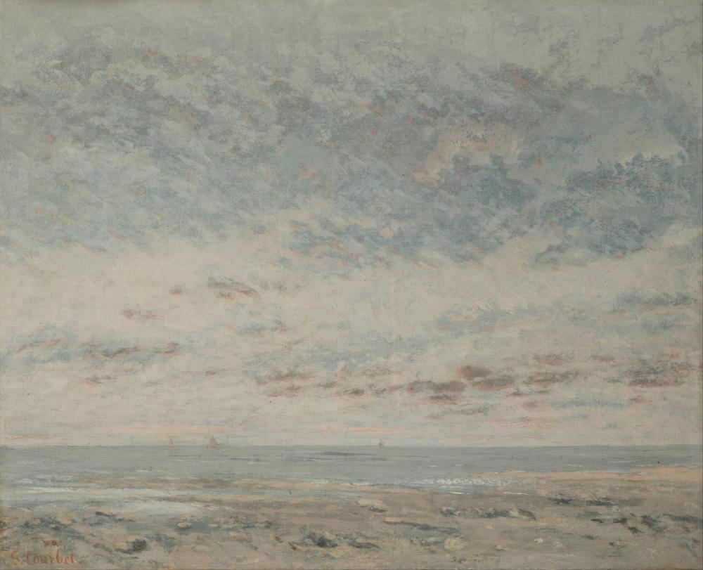 Gustave Courbet Low Tide At Trouville, Canvas, Gustave Courbet, kanvas tablo, canvas print sales