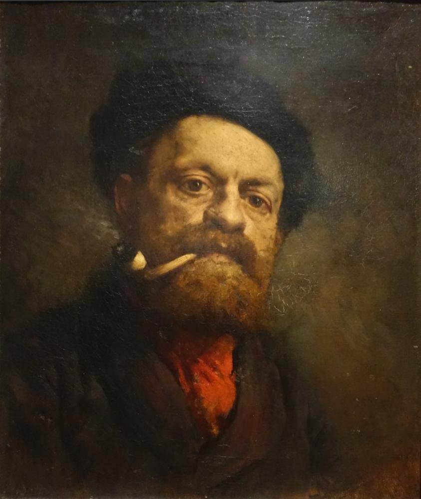 Gustave Courbet Pipolu Adam, Kanvas Tablo, Gustave Courbet, kanvas tablo, canvas print sales