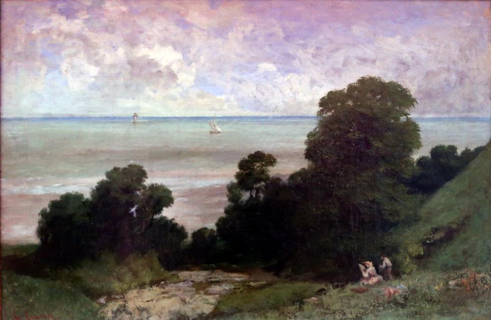 Gustave Courbet Honfleur Marina Görünümü, Kanvas Tablo, Gustave Courbet, kanvas tablo, canvas print sales