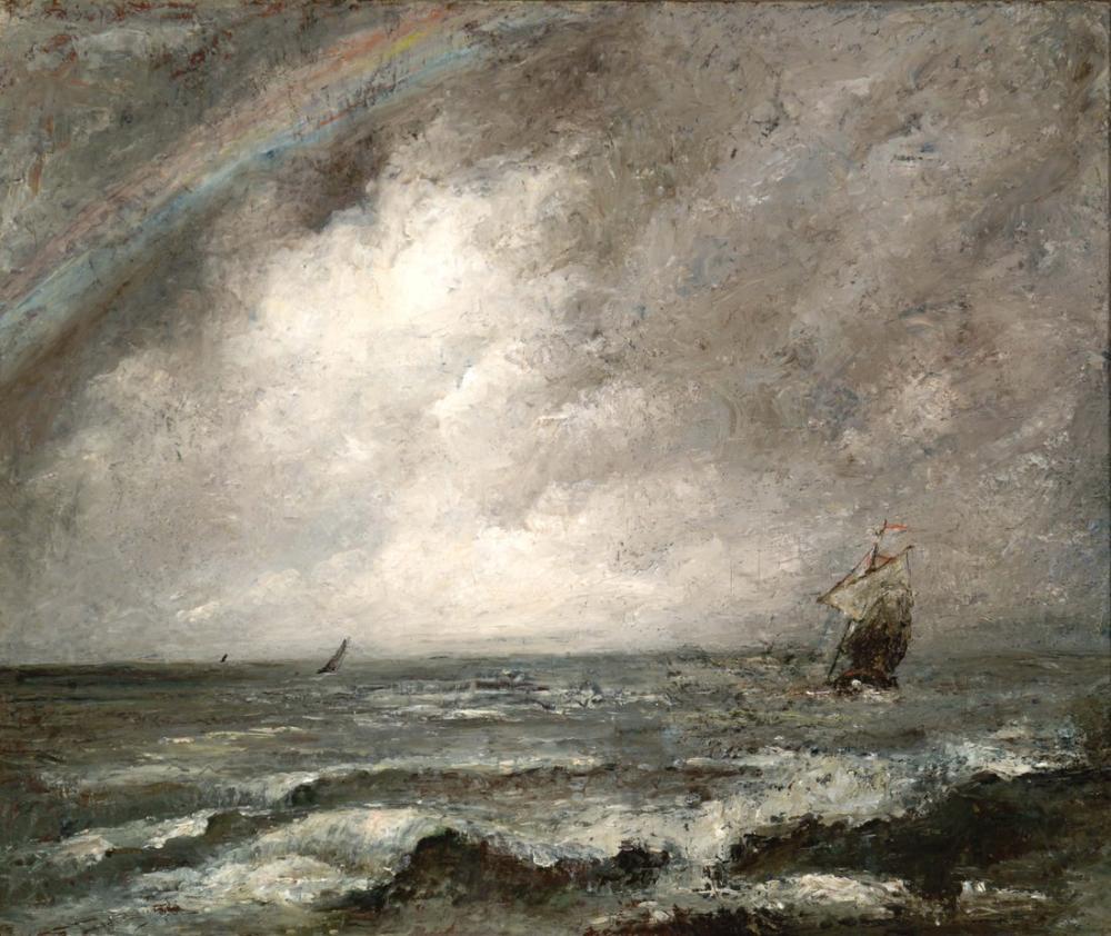 Gustave Courbet Deniz, Kanvas Tablo, Gustave Courbet, kanvas tablo, canvas print sales