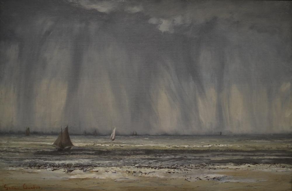Gustave Courbet Deniz III, Kanvas Tablo, Gustave Courbet, kanvas tablo, canvas print sales