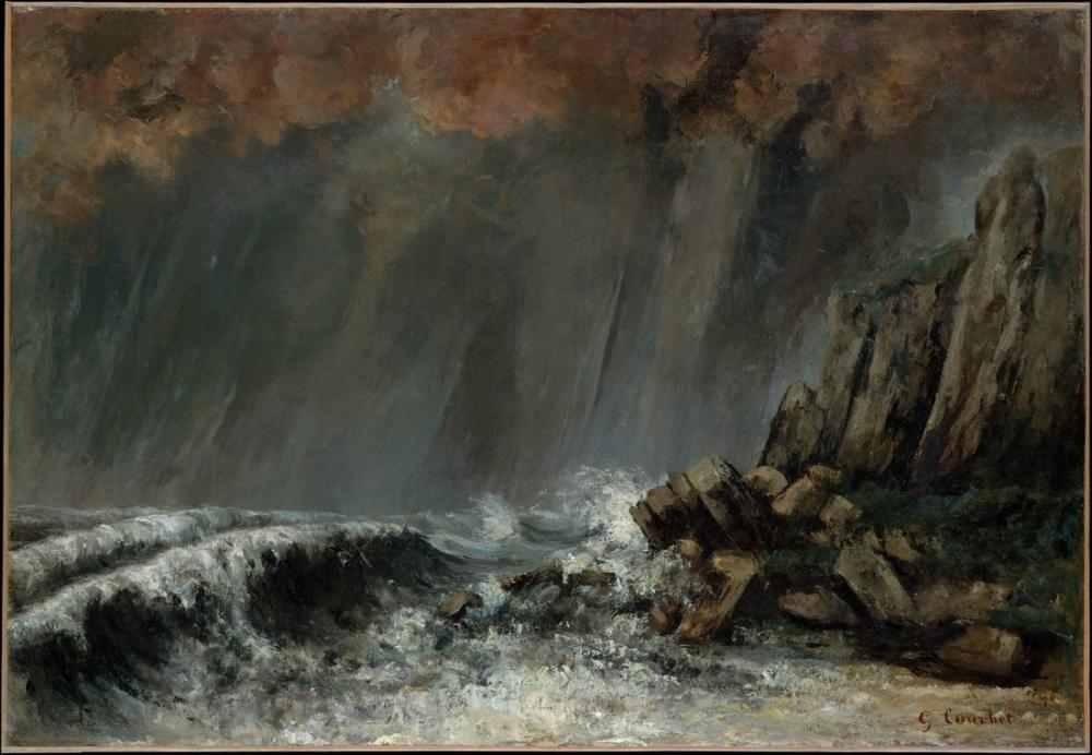 Gustave Courbet Marine The Waterspout, Canvas, Gustave Courbet, kanvas tablo, canvas print sales
