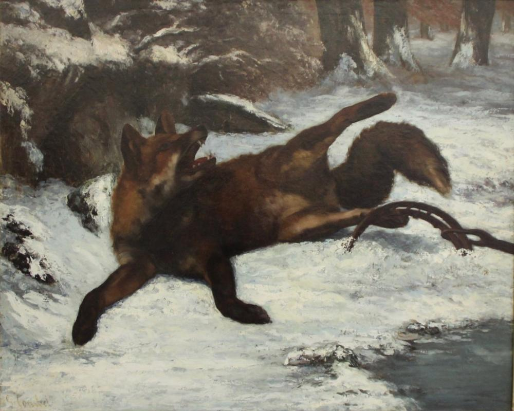 Gustave Courbet Müze Tilki Tuzağa Düştü, Kanvas Tablo, Gustave Courbet, kanvas tablo, canvas print sales