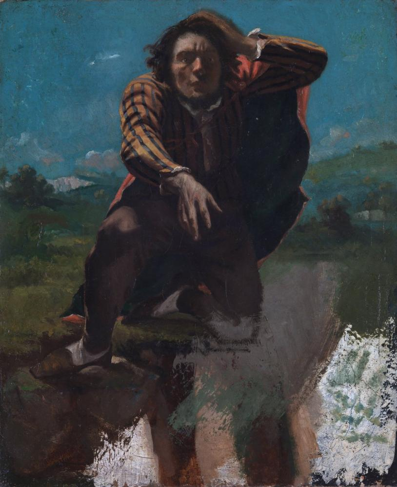 Gustave Courbet Pa Kanten Av Stupet, Canvas, Gustave Courbet, kanvas tablo, canvas print sales