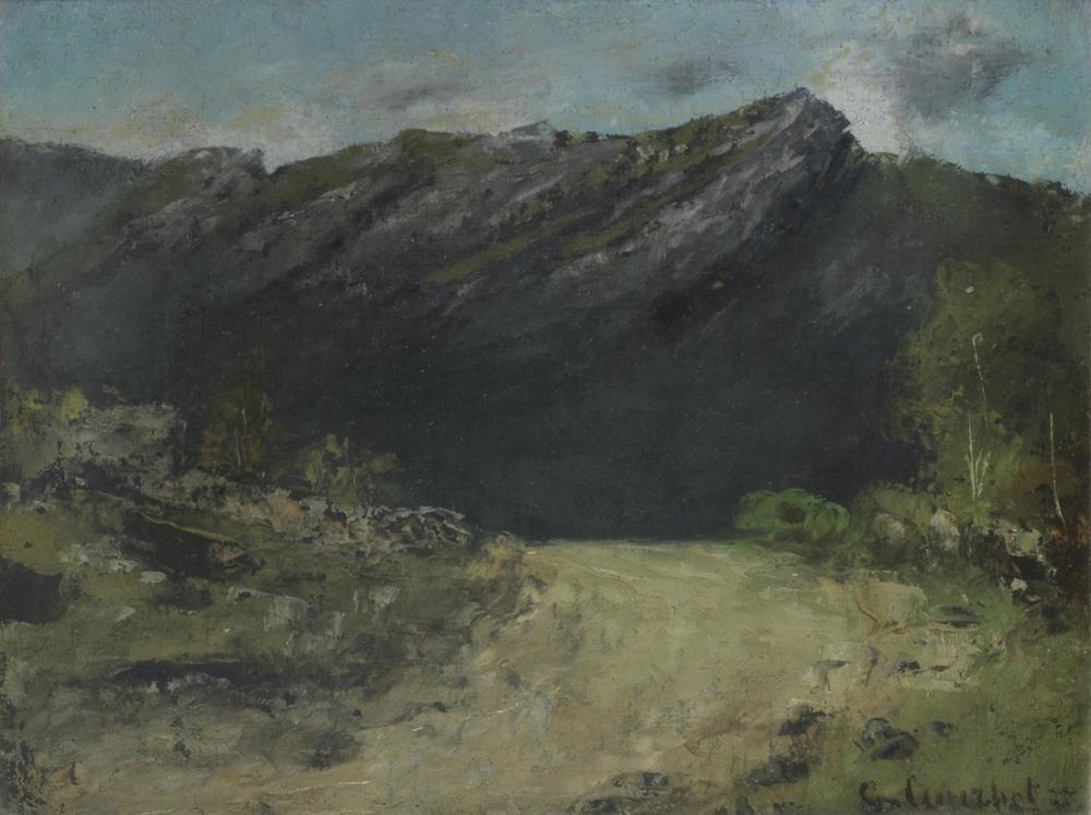 Gustave Courbet Jura Manzara, Kanvas Tablo, Gustave Courbet, kanvas tablo, canvas print sales
