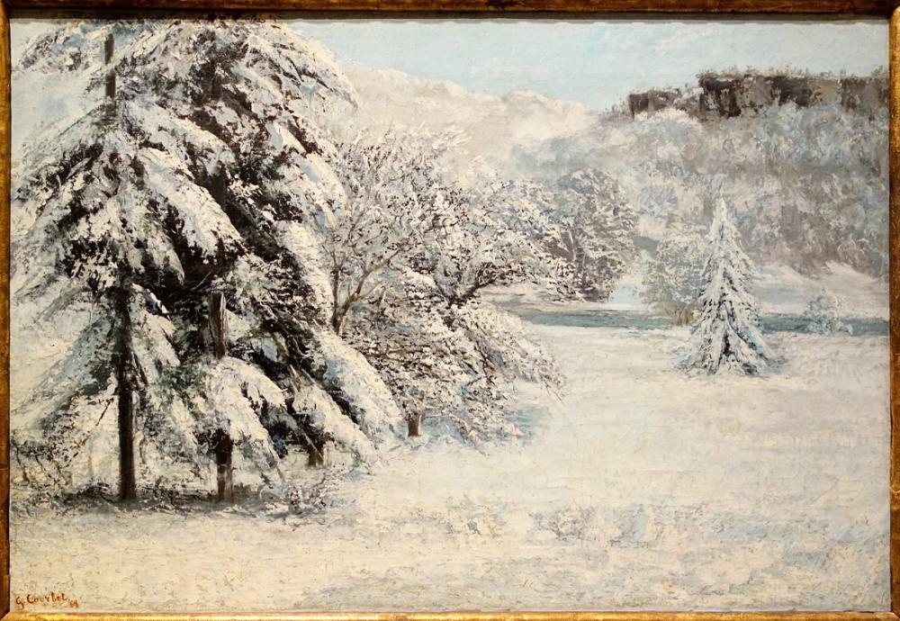 Gustave Courbet Paysage Hiver, Canvas, Gustave Courbet, kanvas tablo, canvas print sales