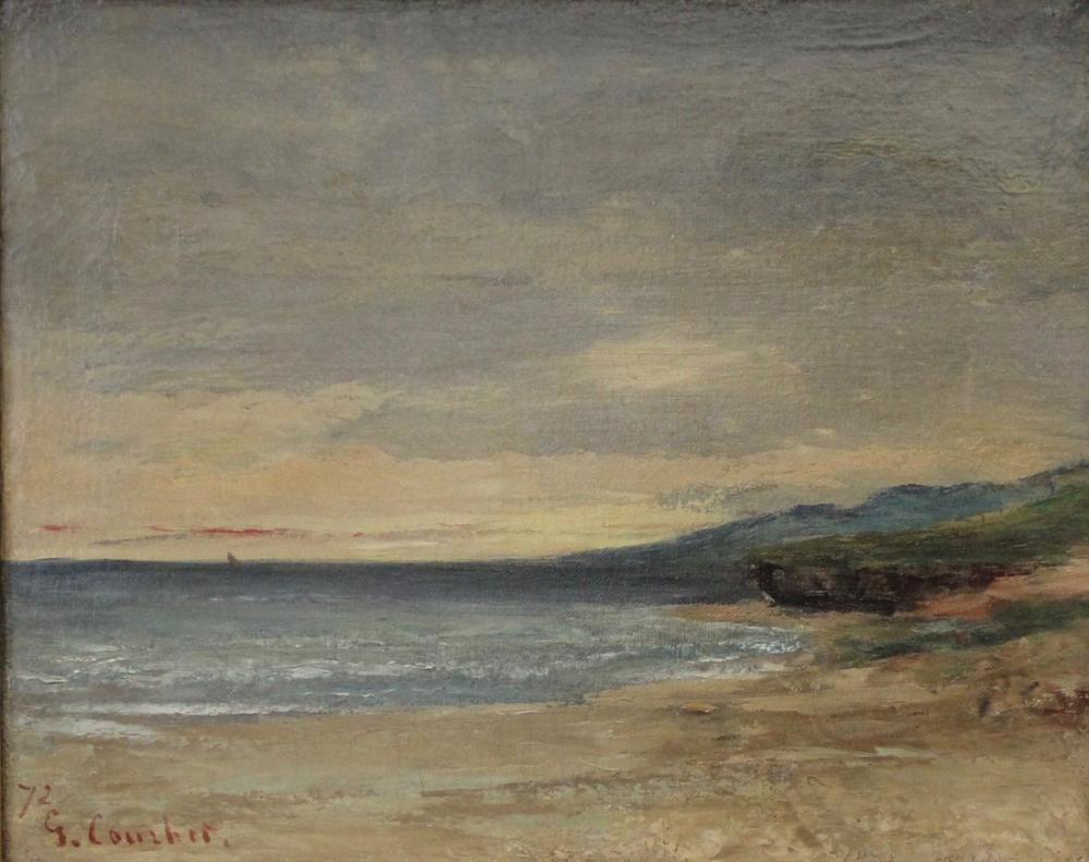 Gustave Courbet Plage De Staint Aubin, Canvas, Gustave Courbet, kanvas tablo, canvas print sales