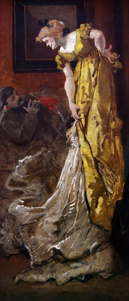Henri De Toulouse Lautrec In The Atelier The Models Pose, Canvas, Henri de Toulouse-Lautrec, kanvas tablo, canvas print sales