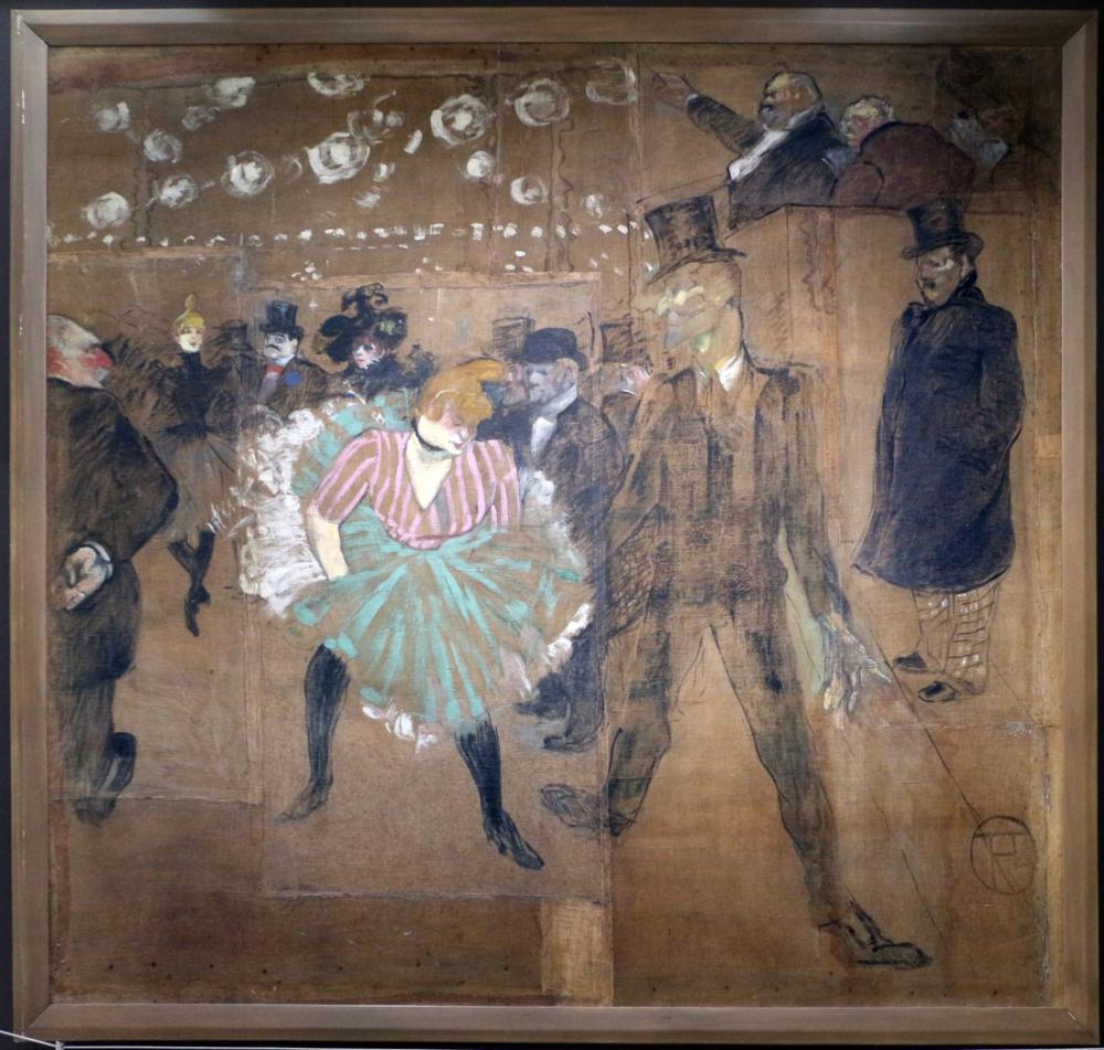 Henri De Toulouse Lautrec Moulin Rouge La Goulue Dans Etti Ve Kemikli Valentin Gitti, Figür, Henri de Toulouse-Lautrec, kanvas tablo, canvas print sales