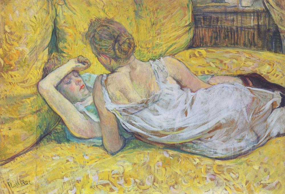 Henri De Toulouse Lautrec Çifti Terk Etme, Kanvas Tablo, Henri de Toulouse-Lautrec, kanvas tablo, canvas print sales