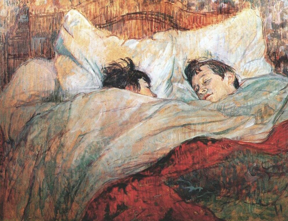 Henri De Toulouse Lautrec In Bed, Canvas, Henri de Toulouse-Lautrec, kanvas tablo, canvas print sales