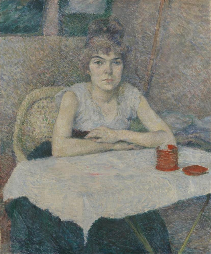 Henri De Toulouse Lautrec Young Woman At A Table Poudre De Riz, Canvas, Henri de Toulouse-Lautrec, kanvas tablo, canvas print sales