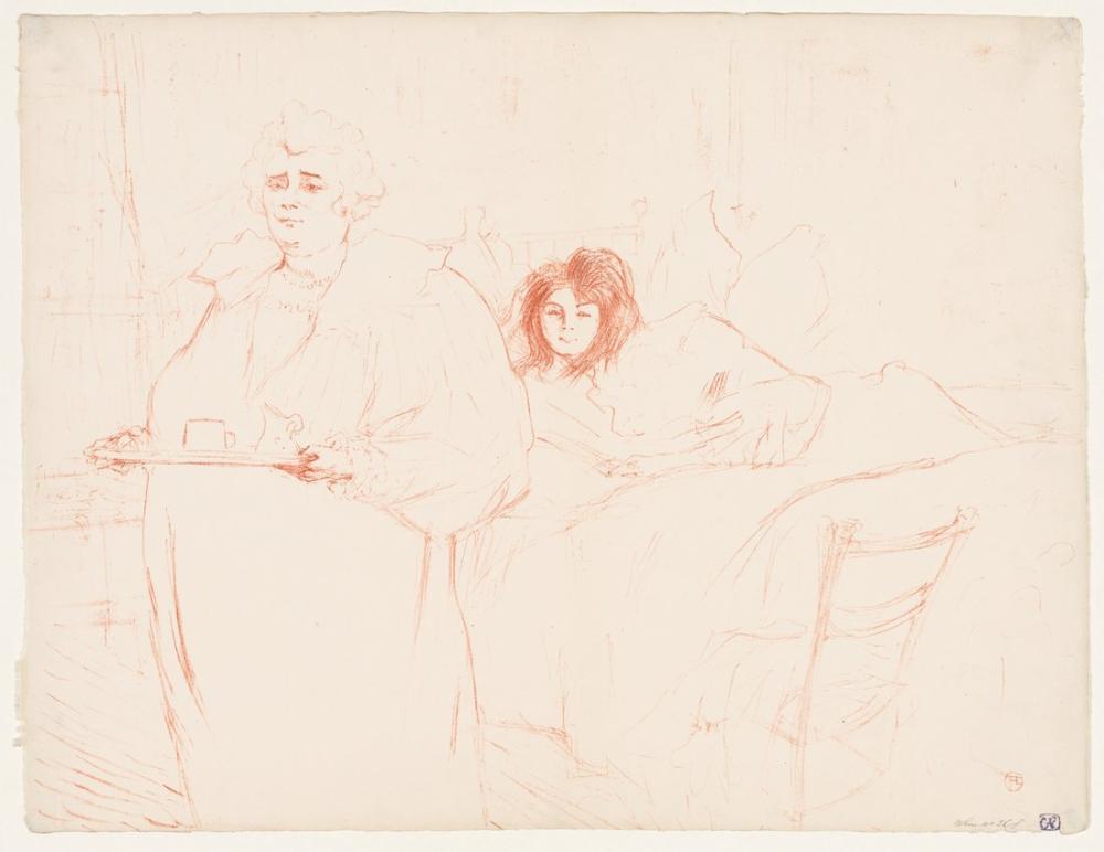 Henri De Toulouse Lautrec Bir Tepsi İle Kadın, Kanvas Tablo, Henri de Toulouse-Lautrec, kanvas tablo, canvas print sales