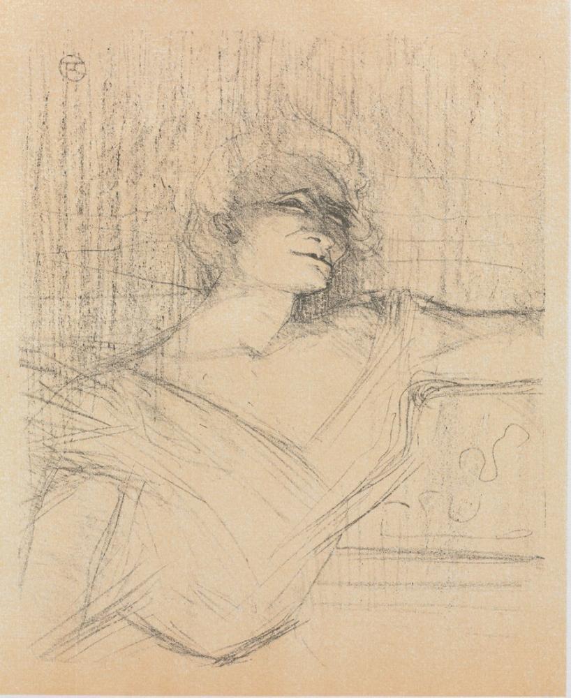 Henri De Toulouse Lautrec Portföyünden Dans La Glu Yvette Guilbert, Figür, Henri de Toulouse-Lautrec, kanvas tablo, canvas print sales