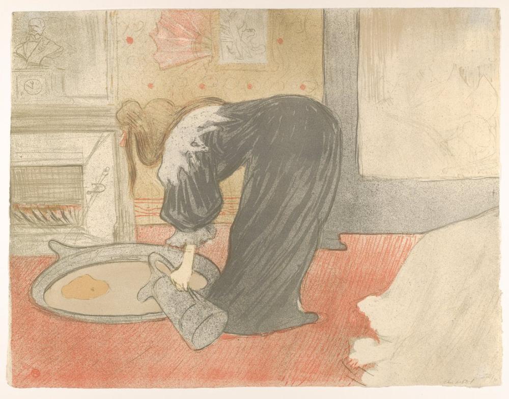 Henri De Toulouse Lautrec Küvet Doldurma, Figür, Henri de Toulouse-Lautrec, kanvas tablo, canvas print sales